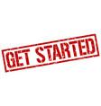 get started stamp vector image