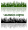 green and silhouette grass vector image vector image