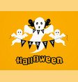 halloween party background with ghosts happy vector image vector image