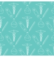 Hand drawn medical seamless pattern Pharmacy vector image vector image