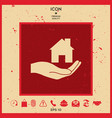 hand holding home vector image