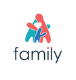 happy family icon with heart vector image vector image