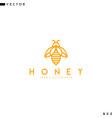 honey bee logo vector image vector image