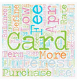 How To Shop For A Low Apr Credit Card text vector image vector image