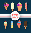Ice-cream design set vector image vector image