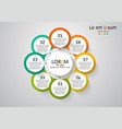 infographic can be used for presentation vector image vector image