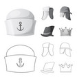 isolated object of headwear and cap symbol vector image vector image