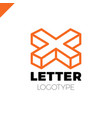 isometric letter x logo icon design template vector image vector image