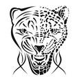 leopard 0002 rage vector image vector image