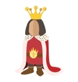 Medieval king cartoon icon vector image