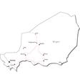 Niger Black White Map
