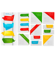 origami paper banners vector image vector image