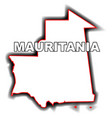 outline map of mauritania vector image vector image