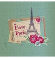 Paris vintage card vector image