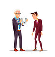 professional unsuitability angry boss breaking vector image vector image
