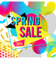 promotional design poster with text spring sale on vector image vector image