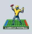 quarterback poster vector image vector image