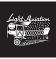 retro aviation design with airplane and wings vector image vector image