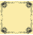 Roses frame oldskool Tattoo style design vector image vector image