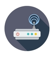 Router single icon vector image vector image