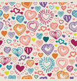seamless pattern withcolor hearts vector image