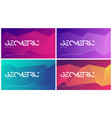 set abstract gradient geometric designs vector image vector image