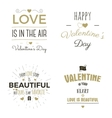 Set of Valentine day typography photo overlays vector image