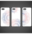 Set Phone cover collection Hand drawn ethnic vector image