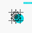 setting gear computing line turquoise highlight vector image