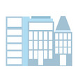 skyscrapers building urban city isolated icon vector image