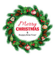 spruce christmas wreath vector image vector image