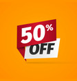 sticker with fifty percent discount 50 percentage vector image vector image