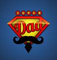 Super dad shield in pop art style vector image vector image