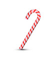 sweet christmas candy cane isolated on white vector image