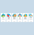 thailand website and mobile app onboarding screens vector image