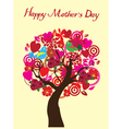 tree mom day vector image