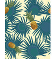 tropical seamless pattern with pineapples exotic vector image