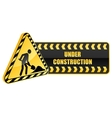 Under construction icon and warning sign vector image vector image