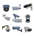 various pictures security cameras vector image