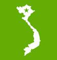 vietnam map icon green vector image vector image