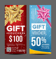 voucher coupon template vertical leaflet vector image vector image