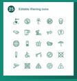 warning icons vector image vector image