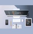 web site design development program code vector image vector image