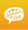 summer sale lettering in speech bubble season vector image