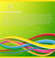 abstract colorful dynamic template vector image vector image