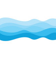 abstract water wave design background vector image vector image