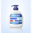 antibacterial hand wash gel ads dispenser bottle vector image