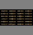 art deco gold borders golden luxury vintage vector image