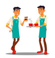 barista at the coffee shop isolated vector image vector image