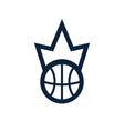 basketball kings team logo emblem designs vector image vector image